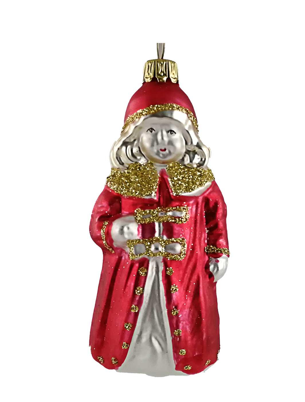 Christkind mit rotem Mantel