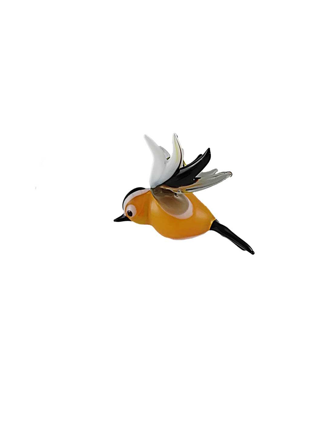 Glasfigur Bergfink fliegend